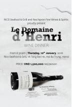 Domaine d'Henri wine dinner | January 2019 (HANOI)
