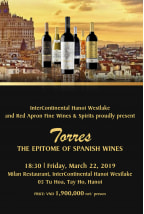 Torres, the Epitome of Spanish wines | March 2019 (HANOI)