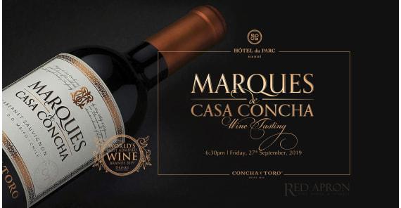Marques de casa concha wine tasting  at hotel Du Parc Ha Noi