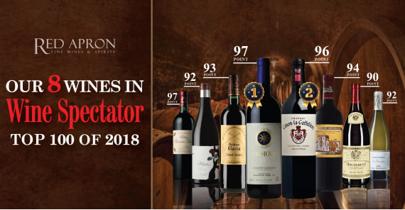 Our 8 wines in wine spectator - Top 100 of 2018