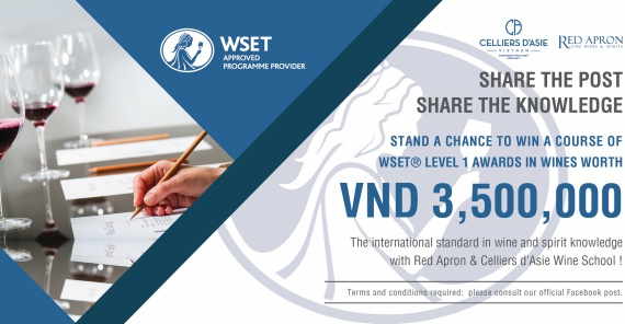 A chance to win a course of WSET® Level 1 Awards in Wines