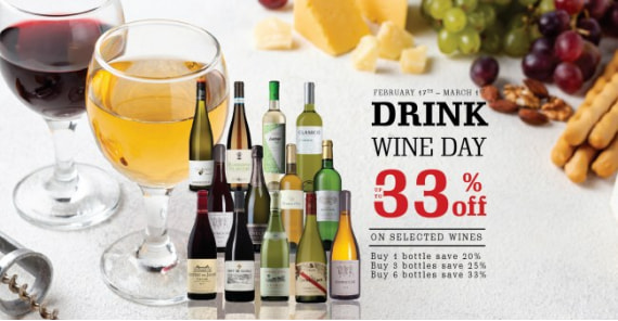 DRINK WINE DAY | UP TO 33%