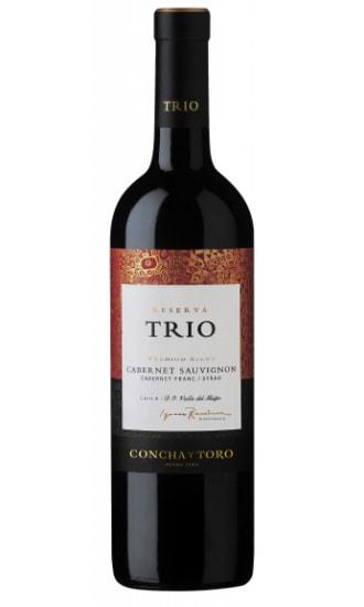 Trio Reserva Cabernet Sauvignon/Shiraz/Cabernet Franc, by Concha y Toro, Central Valley