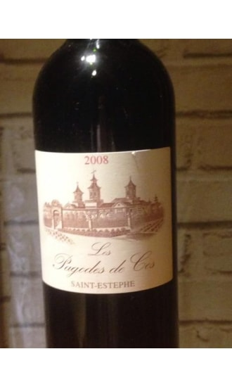 Les Pagodes de Cos, Grand Cru Classe, Red, Saint Estephe 2008