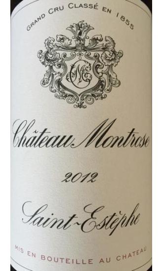 Chateau Montrose, 2nd Grand Cru Classe, Red, Saint Estephe 2012