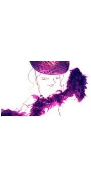 Taittinger Purple Feather Boa