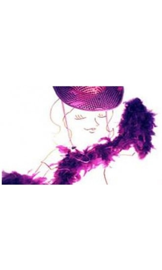 Taittinger Purple Feather Boa