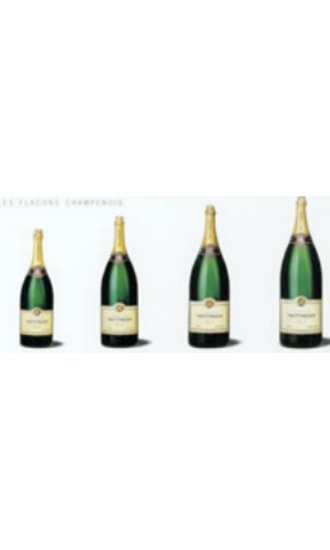 Taittinger Brut Reserve Dummy Bottle Set of 4