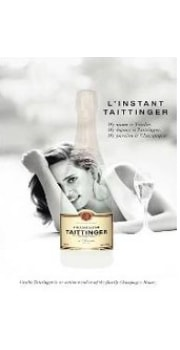 "Taittinger Poster ""Women behind the glass"""