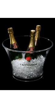 Taittinger Transparent Plastic Ice Bucket 4 btls