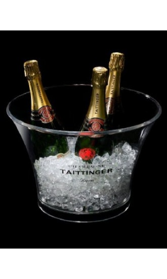 Taittinger Transparent Plastic Ice Bucket 4 btls