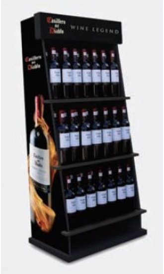 Casillero del Diablo Wine Legend Wine Display 3 Level