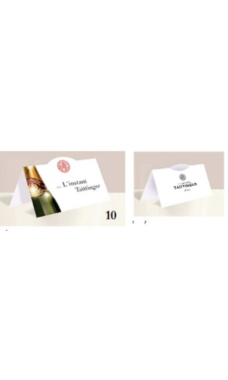 Taittinger Table Tent Card
