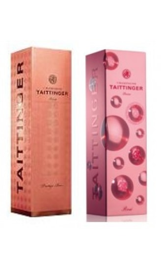 Taittinger Rose Carton Gift Box 1 btl