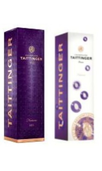 Taittinger Purple Nocturne Carton Gift Box 1 btl