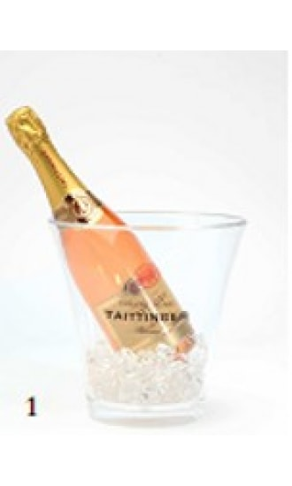 Taittinger Transparent Plastic Ice Bucket 1 btl