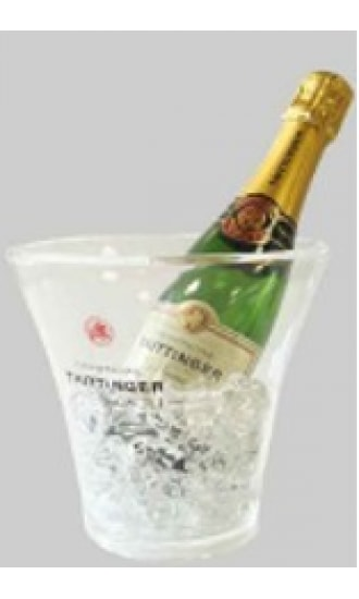 Taittinger Transparent Plastic Ice Bucket half bottle
