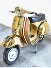 Bottega Vespa scooter for display